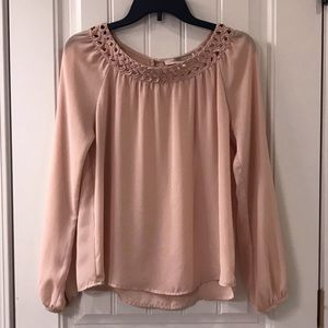 Peach Sheer Forever 21 Blouse